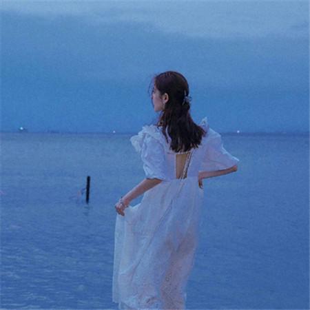 很小清新的蓝色唯美图片最新 世俗的潮浪和喧嚣也抵挡不了我对你的爱