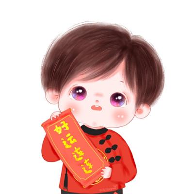 2021国潮萌娃新春卡通头像大全-云奇网