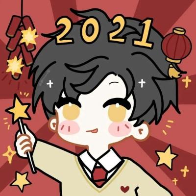 2021新年超甜的可爱卡通情侣头像大全-云奇网
