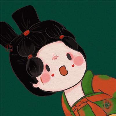 2021超火的唐宫夜宴插画女头像大全-云奇网