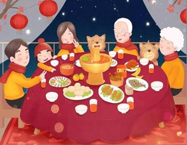 2021过年晒年夜饭的心情说说大全-云奇网