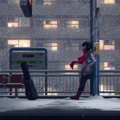 2021孤身一人伤感的动漫卡通图片 享受孤独但又很期待热闹