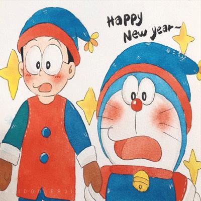 哆啦A梦系列春节喜庆背景图大全 美好的事物一定会在新的一年如约而至