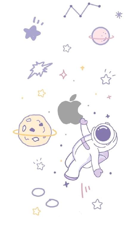 华为表盘太空人手机壁纸高清 抖音太空人表盘皮肤2021