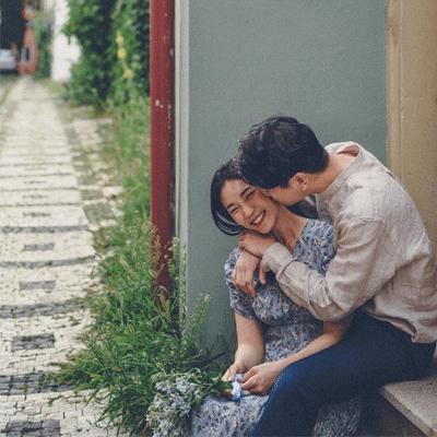 2021浪漫情侣图片甜蜜真人秀恩爱 遇到对的人就是相互治愈慢慢变好的过程