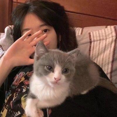 一组抱着猫的2021高颜值女生头像大全