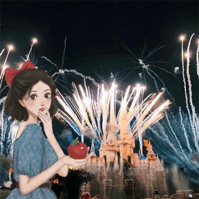 最新版的迪士尼城堡公主背景图 事过无悔不负遇见不谈亏欠