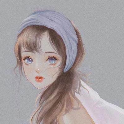 2021梦幻ins超火的仙女插画背景图 我开始享受吹风听歌一个人