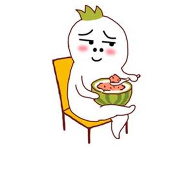 2021夏季吃西瓜的可爱表情包大全-云奇网