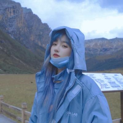 2021魅力蓝色系超级温柔的女头大全