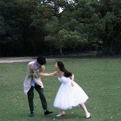 说不出来的浪漫甜蜜感的双人情侣图片 请保持心脏震动因为有人等你共鸣