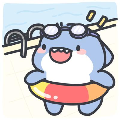 2021最新夏日小鲨鱼可爱头像大全-云奇网