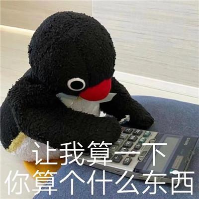 呆萌小企鹅文字聊天可爱的表情 让我算一下你算个什么东西