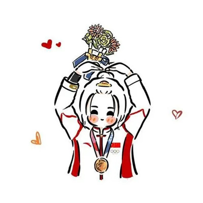 超级可爱最新Q版奥运健儿小头像 奥运健儿头像已送达为你们点赞