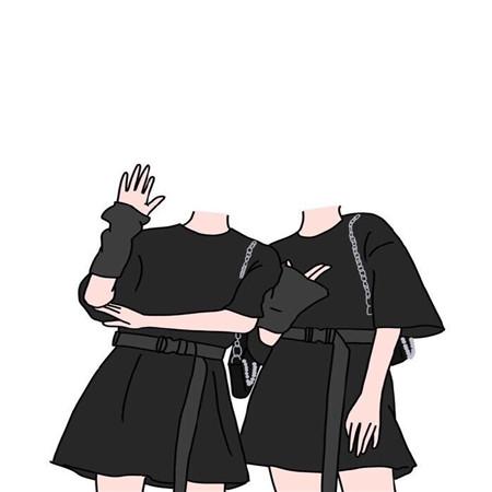 2021晒合照闺蜜抠图素材二三四人 姐妹抠图素材无头小人
