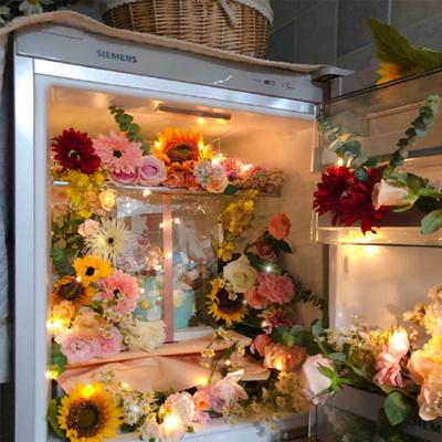 2021最新来自冰箱的浪漫背景图 满满一冰箱的好看鲜花2021