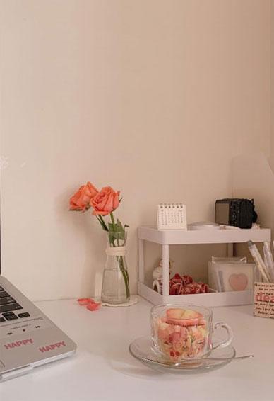 浅粉色壁纸可爱小清新日系好看 你没有如约而来这就是离别的意义