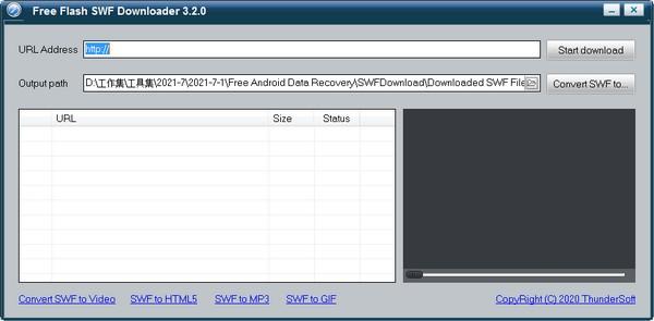 ThunderSoft Free Flash SWF Downloader 电脑软件 第1张