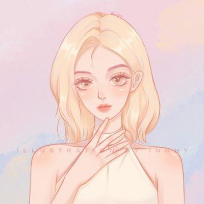 手绘可爱的个性头像大全2021_不能参与你的日子里也祝你熠熠生辉