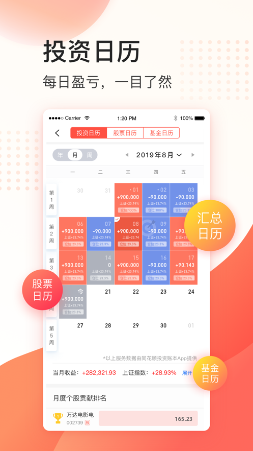 同花顺投资账本ios版v2.9.9 iPhone版