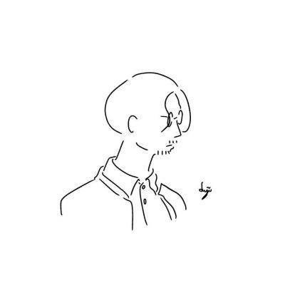 2021男生个性手绘简笔画头像合集 路过的风有没有告诉你有个人很想你