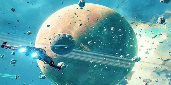 驾驶飞行器在星际中战斗的游戏