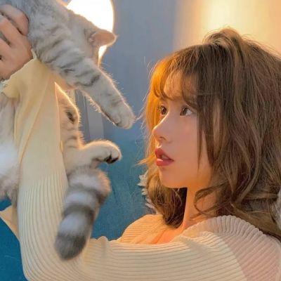 女生抱动物头像可爱萌2021最新 你一定是某个人翘首以盼的惊喜